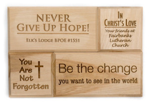Leave a lasting legacy at The Door by putting your message on a wood tile.