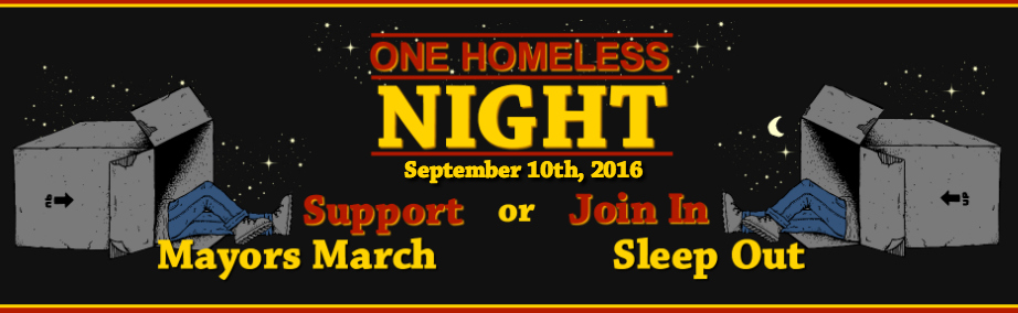 One Homeless Night and Mayors March width=